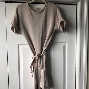 Boden cream sweater dress